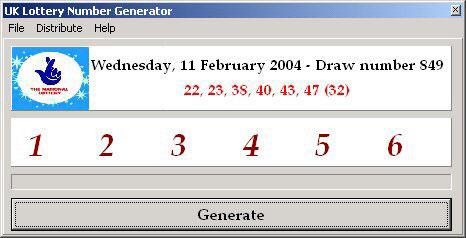 Random number generator lottery