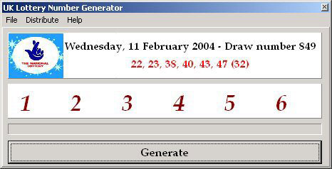 Uk Lottery Generator Screenshot